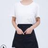 厂家定制直销 时尚涤棉半身小开衩女款双兜围裙女服务员家用茶楼