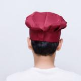 现货批发厨师帽 厨房用帽酒店食品涤棉布帽百褶帽圆帽蘑菇帽蛋糕