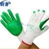 劳保胶片手套 工地建筑防滑耐磨挂硬橡胶 临沂防护小帮手浸胶手套