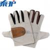 帆布手套 单层加皮劳保手心皮布手套 耐磨用电焊机械防护手套批发