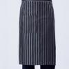 黑白格子糕点面包厨师围裙 半腰款式 均码系绳 有口袋