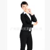 厂家定做2017秋冬新款长袖保暖女士办公职业装OL套裙西装小量加工