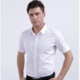 2018夏季新款男装商务职业正装男士短袖衬衫修身纯色半袖衬衣批发