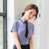名祺夏季时尚衬衫OL百搭短袖工作服 职业装气质百搭大码白领衬衣