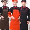 餐厅服务员背带围裙广告咖啡 厅 奶茶店围裙定制可印LOGO和刺绣