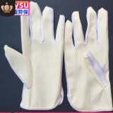 批发防静电PU手套米黄无硫条纹涂掌涂层线路板电子厂防静电pu手套