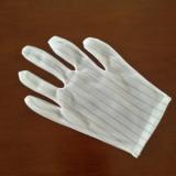 厂家供应 防静电手套 加长双面条纹手套 电子ESD无尘手套