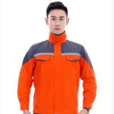 2018现货定做冬装新款男式工人工装 清洁路政长袖工作服 反光户外