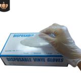 透明pvc手套 无粉防水防油食品加工美容美发甲乙烯基家用清洁手套