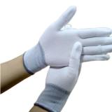 pu涂指手套白色浸胶浸指涂胶pu指防护涂层尼龙13针防滑电子手套