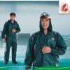 大渔厂渔友牌PVC海胶珠光膜防水分体套装雨衣雨裤徒步骑行农渔业