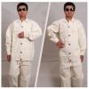 加厚电焊服 厚白帆布工作服 劳保电焊工作服 电焊工服套装