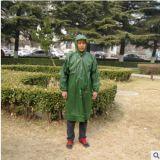 厂家牛津劳保雨衣长身有袖雨披钓鱼抗洪旅行成人户外步行长款雨衣