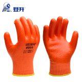 登升809冬季零下20度防寒保暖PVC加厚耐油防滑防护手套