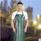 自产自销绿红复合PVC围裙防水耐油酸碱围裙现代简约劳保围裙批发