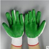 绿胶片手套 建筑工用挂胶手套 胶皮手套 耐磨防滑搬砖手套