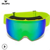 亚马逊 儿童款滑雪眼镜 防爆PC镜片+TPU海绵护垫防冲击护目镜