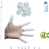 白色手指套 一次性白色无尘无粉乳胶手指套 美容美甲纹绣指套