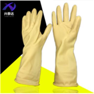 加厚牛筋乳胶洗碗洗衣家务劳保工作防水清洁耐磨塑胶胶皮橡胶手套