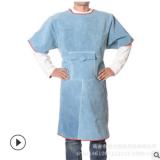 厂家批发焊工电焊衣服电焊防烫围裙牛皮耐磨防护服牛皮隔热工作服