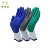 批发劳保手套舒适耐磨防割手套丁腈乳胶手套聚乙烯防滑丁晴手套