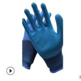 加厚尼龙透气耐磨耐用乳胶手套 压纹乳胶发泡抗撕拉防护劳保手套