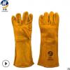 厂家直销 黄色电焊手套 耐高温隔热双层里衬电焊手套
