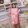 韩版罩衣时尚桃皮绒防油污厨房长袖围裙餐厅成人反穿衣工作服