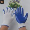 厂家直销13针尼龙丁晴 劳保手套 挂胶手套 批发浸胶手套半胶手套