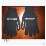 高品质劳保工作手套黑棉纱耐磨耐用点胶手套白色胶印LGOG可定制
