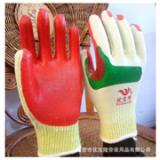 红胶片手套厂家批发优宝隆 防割胶片手套 耐磨隔热防滑 劳保手套