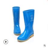 直销军敬雨靴牛筋底女高筒水鞋橡胶酸碱油劳保套鞋防滑耐磨雨鞋