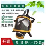 大视野硅胶防毒全面罩喷漆化工防毒全景面具喷漆化工 防雾