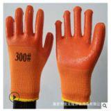 毛圈PVC半挂胶手套 加厚保暖 耐磨防滑劳保手套 厂家直销秋冬季