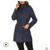亚马逊爆款防水轻薄雨衣连帽户外防风衣夏季薄款冲锋衣女外套现货
