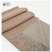 旭亚 女士超大披肩围巾披肩羊绒秋冬季纯色欧美保暖精美包装送礼