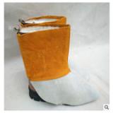 供应牛皮电焊护脚盖防阻燃防火星飞溅焊接护腿脚部劳保防护脚套