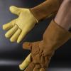 厂家直供牛皮手部劳保手套焊工防火星手套 焊工手套劳保手套