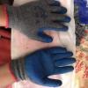 厂家直销批发 七女星浸胶建筑工业防滑耐磨灰纱蓝劳保手套