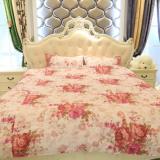 棉被生产厂家供应纯棉四件套床上用品 全棉婚庆4件套被套纯色批发