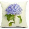 花卉玫瑰花小清新棉麻抱枕靠垫套沙发办公室汽车靠枕 可一件代发