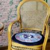 中国风圆坐垫/餐桌椅垫/办公室加厚棉垫子(含芯)-手织布拼布