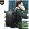 英皇保罗新款两用手提电脑背包 商务旅行多功能 usb男士双肩背包