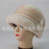 女款秋冬季礼帽水貂帽子复古圆顶礼帽女可爱太阳帽皮草帽子