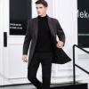 冬季男士中长款毛呢大衣商务男装双面呢外套韩版修身羊毛呢子大衣