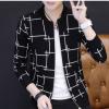 新款秋季男式开衫 韩版修身休闲针织衫 男装立领时尚青年毛衣潮