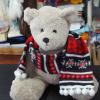 圣诞玩具围巾 提花针织小围巾 公仔毛线围巾 迷你卡通针织围巾