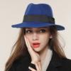 秋冬新款帽子男女爵士帽羊毛呢礼帽 英伦时尚百搭遮阳帽毛毡帽