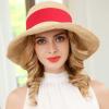 帽女韩版春夏天遮阳帽女拉菲草帽可折叠出游遮脸防晒海边沙滩帽子