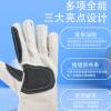 劳工牌帆布手套白甲24线带皮双层耐磨加厚耐热电焊专用劳保防护